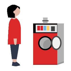 無料洗濯槽洗浄の手順イラスト1
