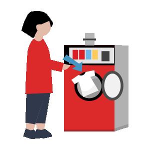 洗濯機乾燥機の使い方手順イラスト2
