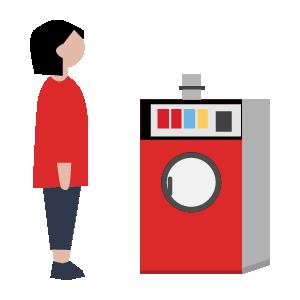 洗濯機乾燥機の使い方手順イラスト3