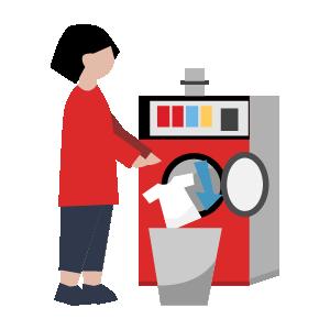 洗濯機乾燥機の使い方手順イラスト6