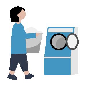 洗濯機の手順イラスト