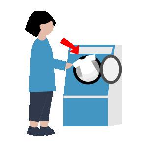 洗濯機使い方の手順イラスト2