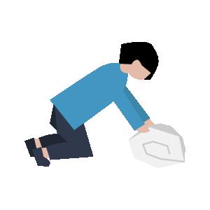 布団の洗い方手順イラスト1