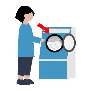 布団の洗い方手順イラスト3