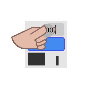 タテ型洗濯機の使い方手順イラスト1