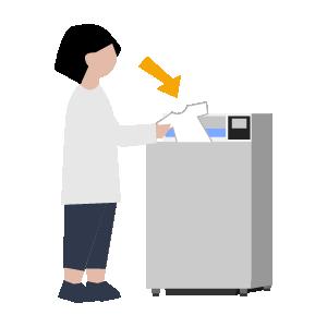 タテ型洗濯機の使い方手順イラスト2