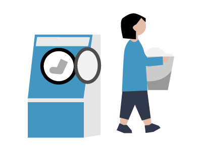 洗濯するとき注意することイラスト5