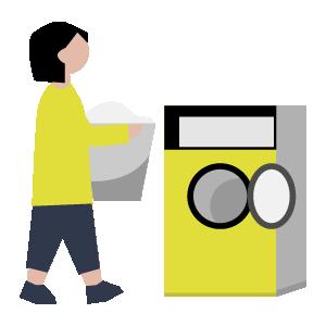 乾燥機の手順イラスト